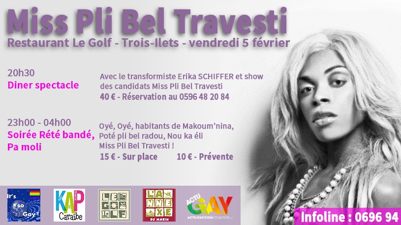 Election de Miss Pli Bel Travesti à Trois-Ilets (Martinique)