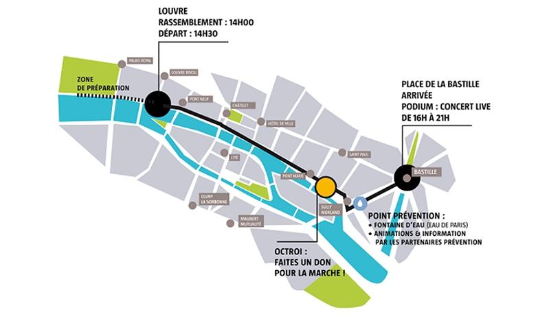 Nouveau parcours pour la Marche des Fiertés LGBT de Paris du 2 juillet 2016 : du Louvre à Bastille.