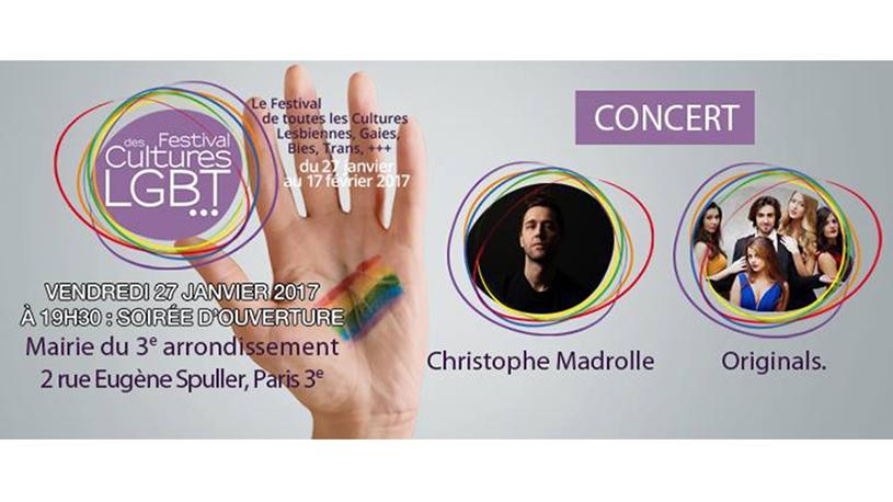 Christophe Madrolle en concert pour l'ouverture du Festival des Cultures LGBT 2017