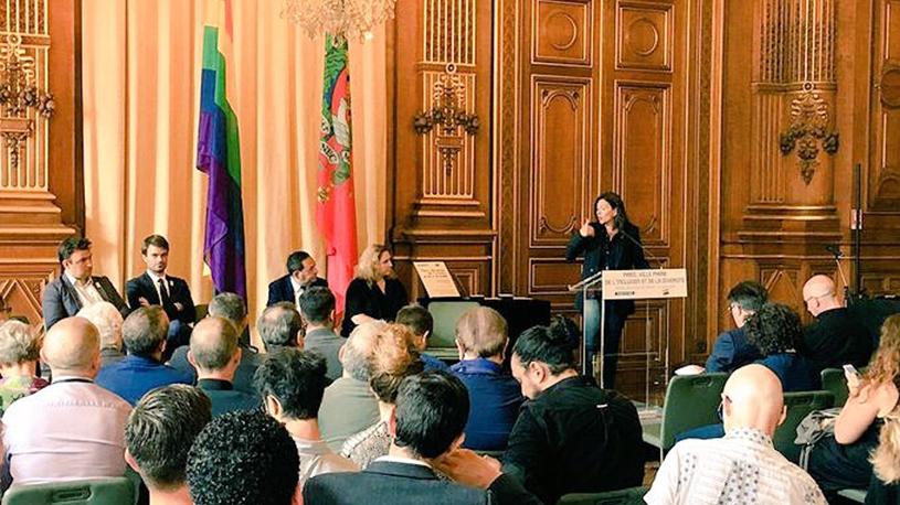 Anne Hidalgo s'engage à faire de Paris la capitale mondiale des droits LGBTI