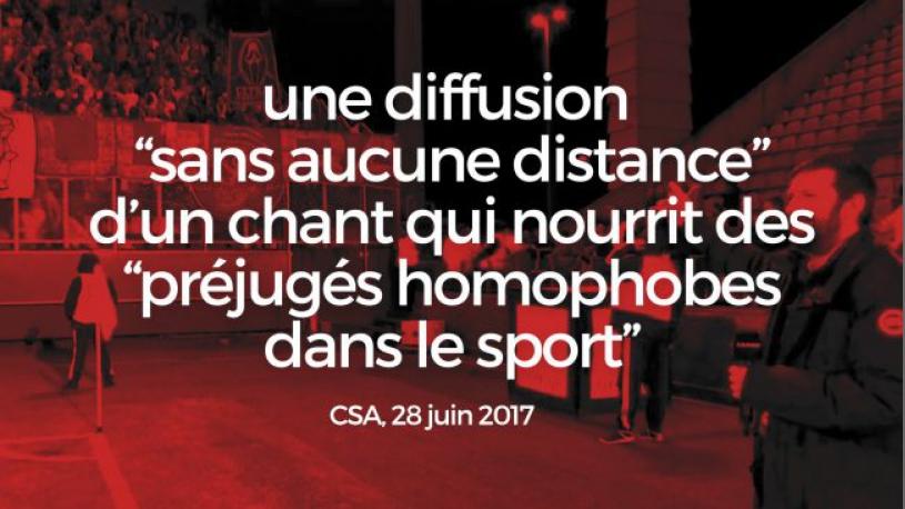 Le CSA met en garde Canal+ suite à la diffusion d'un chant homophobe de supporters de l'OM