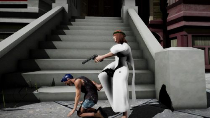 A video game lets you play as Jesus, Trump or Hitler. You win by shooting LGBTQ people.