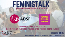 Féministalk : Pauvreté et précarité des femmes in Paris le Wed, May 22, 2019 from 07:30 pm to 09:30 pm (Meetings / Discussions Lesbian)