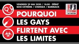 Débat : pourquoi les gays flirtent avec les limites /// PF#7 em Paris le sex, 29 maio 2020 18:00-20:00 (Reuniões / Debates Gay, Lesbica, Hetero Friendly, Bear)