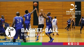 Gay Games 10 - Basket-ball à Paris du  5 au 10 août 2018 (Sport Gay, Lesbienne)
