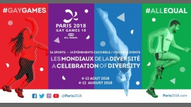 PARIS 2018 - Gay Games 10 à Paris du  4 au 12 août 2018 (Sport Gay, Lesbienne)