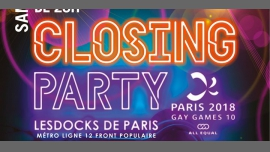 Gay Games 10 - Closing Party à Paris le sam. 11 août 2018 de 23h00 à 06h00 (Clubbing Gay, Lesbienne)