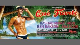 Qué Fuerte - Beach spécial édition in Paris le Sat, July 27, 2019 from 11:59 pm to 12:00 pm (Clubbing Gay Friendly)