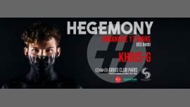 After Hegemony #15 - Khris-G Full Session à Paris le dim. 17 mars 2019 de 06h00 à 12h00 (After Gay Friendly)
