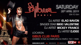 Gibus Paris - Grand Opening in Paris le Sat, April 20, 2019 from 11:55 pm to 06:00 am (Clubbing Gay Friendly)