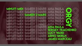 ORGY sp Guest Ana Paula à Paris le sam.  2 mars 2019 de 23h59 à 12h00 (Clubbing Gay Friendly)