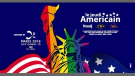 Le jeudi Américain ! / The American Thursday ! à Paris le jeu.  9 août 2018 de 19h00 à 04h00 (After-Work Gay)