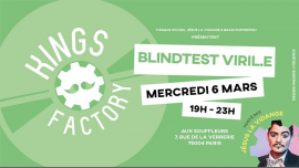 Kings Factory : le blindtest viril.e à Paris le mer.  6 mars 2019 de 19h00 à 23h00 (After-Work Gay)