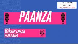 Paanza - Markus Chaak + Wakanda - Les Souffleurs in Paris le Fri, January 25, 2019 from 10:00 pm to 05:00 am (Clubbing Gay)