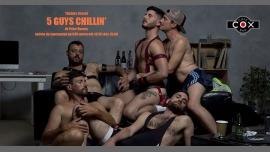 """Lancement """" 5 guys Chillin' """"de Peter Darney à Paris le mer. 16 janvier 2019 de 19h00 à 02h00 (After-Work Gay)"""