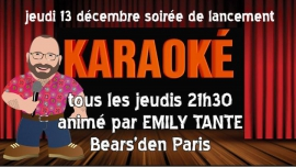 Bear Karaoké à Paris le jeu.  3 janvier 2019 de 21h30 à 00h30 (After-Work Gay, Bear)