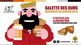La Galette des Ours 2019 à Paris le dim. 20 janvier 2019 de 18h00 à 21h00 (After-Work Gay, Bear)