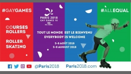 Gay Games 10 - Roller Skating in Paris from  5 til August  8, 2018 (Sport Gay, Lesbian, Trans, Bi)