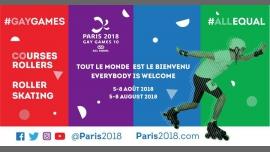 Gay Games 10 - Roller Skating à Paris du  5 au  8 août 2018 (Sport Gay, Lesbienne, Trans, Bi)