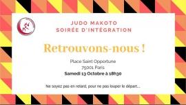 Soirée d'intégration de Makoto in Paris le Sat, October 13, 2018 from 06:30 pm to 12:00 am (Meetings / Discussions Gay, Lesbian, Hetero Friendly, Trans, Bi)