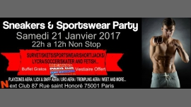 Sneakers and sportswear party à Paris le sam. 21 janvier 2017 de 22h00 à 12h00 (Sexe Gay)