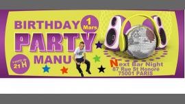 ★ ★ ★ MANU Birthday PARTY ★ ★ ★ em Paris le sex,  1 março 2019 20:00-16:00 (Sexo Gay)