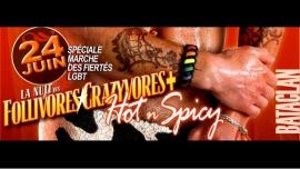 La Nuit des Follivores / Crazyvores + à Paris le sam. 24 juin 2017 de 23h55 à 06h00 (Clubbing Gay, Lesbienne, Hétéro Friendly)