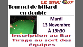 Le Bar'Ouf : Tournoi de billard en double à Paris le mar. 13 novembre 2018 de 19h30 à 23h59 (After-Work Gay Friendly, Lesbienne)
