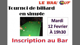 Le Bar'Ouf : Tournoi Billard en Simple em Paris le ter, 12 fevereiro 2019 19:30-23:30 (After-Work Gay Friendly, Lesbica)