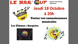 Le Bar'Ouf : Blind Test Musical em Paris le qui, 18 outubro 2018 20:00-21:30 (After-Work Gay Friendly, Lesbica)
