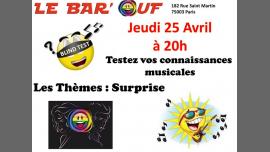Le Bar'Ouf Blind Test Musical en Paris le jue 25 de abril de 2019 20:00-22:00 (After-Work Gay Friendly, Lesbiana)