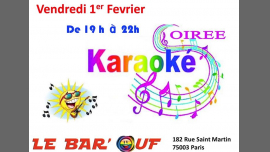 Le Bar'Ouf : Karaoke em Paris le sex,  1 fevereiro 2019 19:00-22:00 (After-Work Gay Friendly, Lesbica)