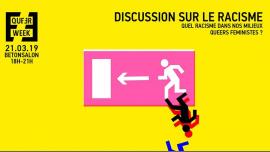 Quel racisme dans nos milieux queers féministes ? à Paris le jeu. 21 mars 2019 de 18h00 à 21h00 (Rencontres / Débats Gay, Lesbienne, Trans, Bi)