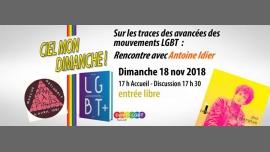 Rencontre avec Antoine Idier à Paris le dim. 18 novembre 2018 de 17h00 à 19h30 (Rencontres / Débats Gay, Lesbienne, Hétéro Friendly, Bear)