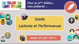 Soirée lectures et performances à Paris le jeu. 22 juin 2017 de 20h00 à 23h00 (Rencontres / Débats Lesbienne)
