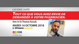 Causerie santé spéciale Pharma in Paris le Tue, October 16, 2018 from 08:00 pm to 10:00 pm (Meetings / Discussions Gay, Lesbian, Hetero Friendly, Bear)