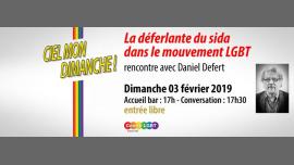Rencontre avec Daniel Defert fondateur de AIDES à Paris le dim.  3 février 2019 de 17h30 à 19h30 (Rencontres / Débats Gay, Lesbienne, Hétéro Friendly, Bear)