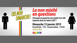 La non mixité en questions in Paris le Sun, January 13, 2019 from 05:30 pm to 07:30 pm (Meetings / Discussions Gay, Lesbian, Hetero Friendly, Bear)