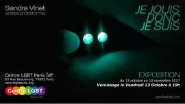 """Exposition """"Je jouis donc je suis"""", par Sandra Vinet à Paris du 13 au 27 octobre 2017 (Expo Gay, Lesbienne, Hétéro Friendly, Bear)"""