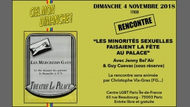 Bienvenue au Palace : code Jenny Bel'Air in Paris le Sun, November  4, 2018 from 05:30 pm to 08:00 pm (Meetings / Discussions Gay, Lesbian, Hetero Friendly, Bear)