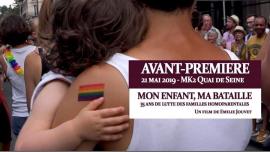 Mon enfant ma bataille Avant-première Paris à Paris le mar. 21 mai 2019 de 19h30 à 22h30 (Cinéma Gay, Lesbienne)