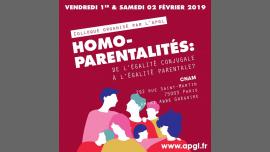 Homoparentalités : de l'égalité conjugale à l'égalité parentale à Paris le sam.  2 février 2019 de 09h00 à 17h00 (Rencontres / Débats Gay, Lesbienne)