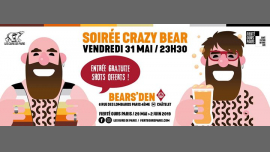 Soirée Crazy Bear 2019 in Paris le Fr 31. Mai, 2019 23.30 bis 04.00 (Clubbing Gay, Bear)