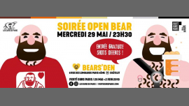 Soirée Open Bear 2019 in Paris le Mi 29. Mai, 2019 23.30 bis 04.00 (Clubbing Gay, Bear)