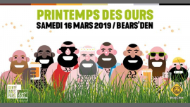 Printemps des Ours 2019 à Paris le sam. 16 mars 2019 de 19h00 à 23h59 (After-Work Gay, Bear)