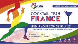 Cocktail Team France à Paris le jeu.  9 août 2018 de 19h00 à 23h00 (After-Work Gay, Lesbienne, Hétéro Friendly, Trans, Bi)