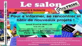 Salon GreyPRIDE à Paris le sam. 29 avril 2017 de 16h30 à 19h00 (Rencontres / Débats Gay, Lesbienne, Trans, Bi)