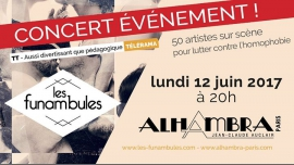 Les Funambules à l'Alhambra à Paris le lun. 12 juin 2017 de 20h00 à 23h00 (Concert Gay Friendly, Lesbienne Friendly)