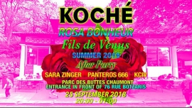 Koché Afterparty en Paris le mar 25 de septiembre de 2018 20:00-01:00 (After-Work Gay Friendly, Lesbiana Friendly)