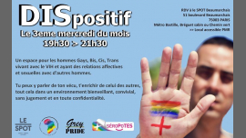 DISpositif in Paris le Wed, May 15, 2019 from 07:30 pm to 09:30 pm (Meetings / Discussions Gay, Lesbian, Trans, Bi)